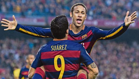 Neymar felicitó a Luis Suárez por el título de LaLiga con Atlético de Madrid. (Foto: AFP)