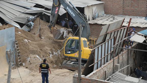 La Policía señaló que los trabajos en el túnel eran realizados de madrugada. (Foto: Eduardo Cavero/ @photo.gec)