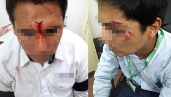 Ellos son dos de los trabajadores del la Línea 1 del Metro de Lima que fueron agredidos por los pasajeros. (Fot:Metro de Lima)
