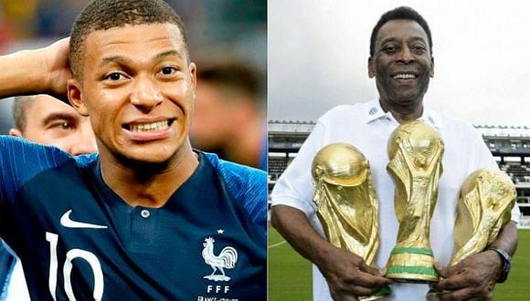 El picante diálogo entre Pelé y Mbappé tras la final de Rusia 2018