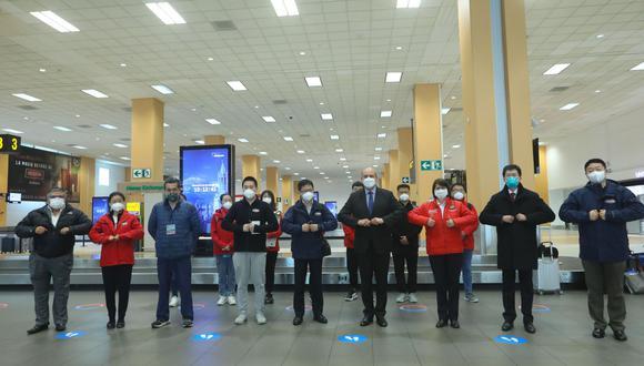 Representantes de Sinopharm llegaron al Perú para comenzar con ensayos clínicos.  (Foto: Andina)