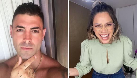 Andrea San Martín y Sebastián Lizarzaburu empezaron a convivir hace dos semanas, según declararon a Magaly Medina. (Foto: Instagram @mama.porpartidadoble / @sebaslizar).