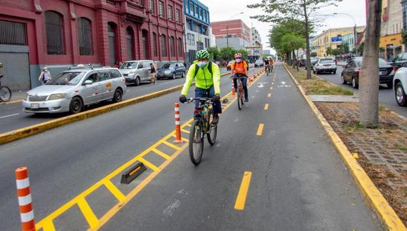 Municipalidad de Lima ha implementado una red de ciclovías en la capital desde el mes de mayo. (Foto: Contraloría)