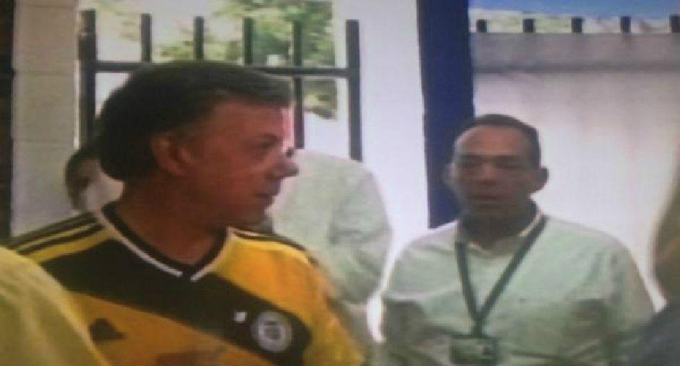 Presidente colombiano llegó al Metropolitano para duelo ante Selección Peruana