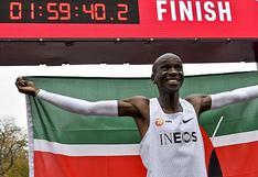Eliud Kipchoge entra a la historia del deporte: la primera persona en completar una maratón en menos de 2 horas | VIDEO