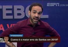"""Periodista de ESPN fulmina a Christian Cueva: """"Es el peor fichaje del siglo en Santos""""   VIDEO"""