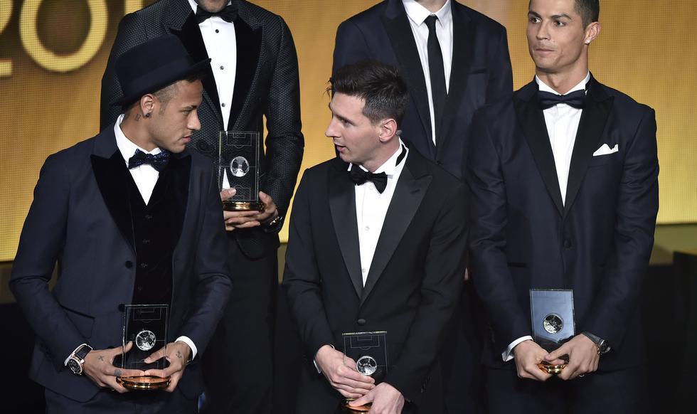 Desde 2013, ningún jugador que no sea Messi, Cristiano Ronaldo o Neymar ha podido subir al podio. (Foto: AFP)