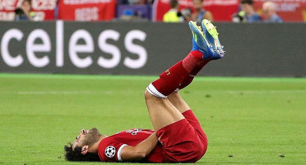 El llanto de Mohamed Salah antes de ser cambiado en Champions League