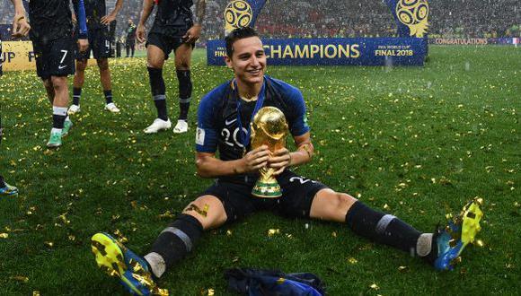 Florian Thauvin jugó un partido con Francia en el Mundial Rusia 2018. (Foto: AFP)
