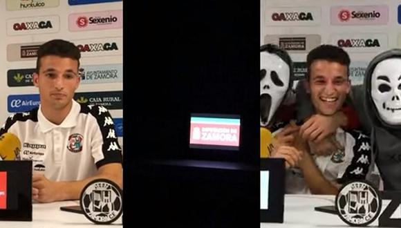 YouTube Viral: jugador daba conferencia de prensa, se fue la luz y casi se muere del susto | VIDEO