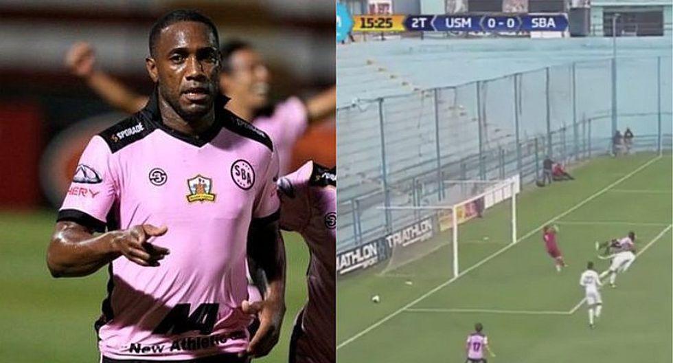 Luis Tejada falló gol cantado antes del 1-0 de la San Martín [VIDEO]
