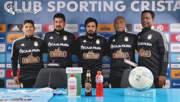 Jorge Cazulo fue presentado junto a su comando técnico. (Foto: Sporting Cristal)