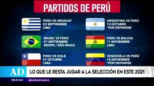 Todos los partidos que restan del año de la selección peruana
