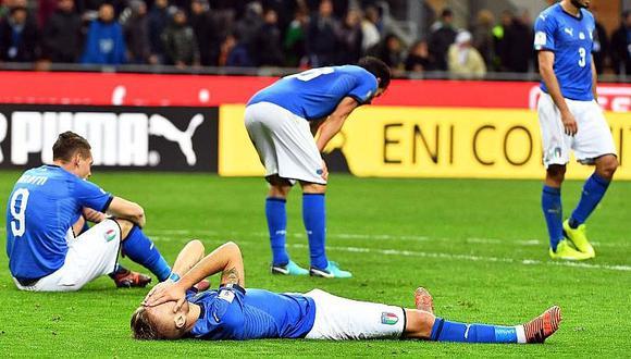 Italia: fuera de un Mundial después de 60 años