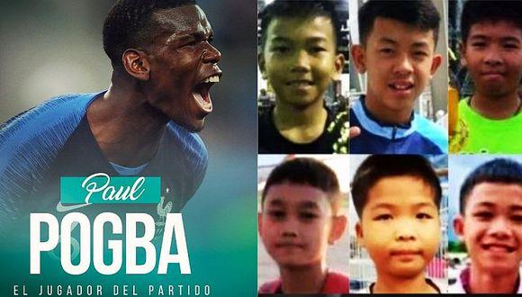 Mundial Rusia 2018: Paul Pogba dedica triunfo de Francia a niños tailandeses