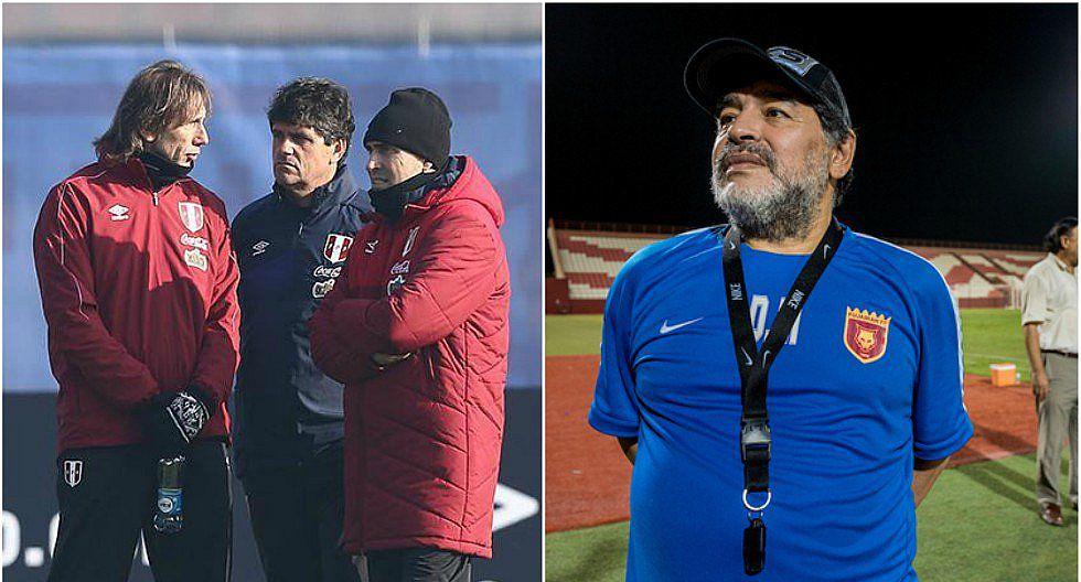Diego Maradona mandó saludos a asistente técnico de Ricardo Gareca