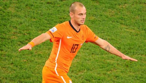 Wesley Sneijder confesó que pudo llegar al nivel de Cristiano Ronaldo y Lionel Messi. (Foto: AFP)