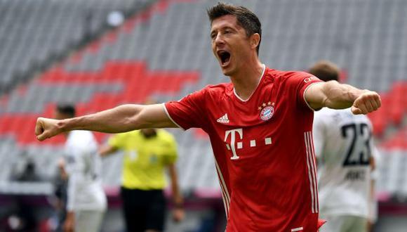 Robert Lewandowski es el goleador de la presente edición de la Champions League con 11 anotaciones. (Foto: AFP)