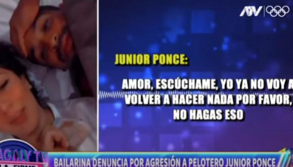 Junior Ponce fue denunciado por violencia física por su ex pareja Jhajayra Aliaga. (Foto: Captura YouTube).