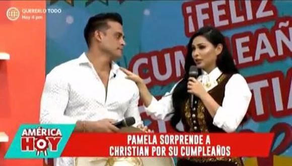 Pamela Franco se vistió de mariachi para sorprender a Christian Domínguez por su cumpleaños. (Foto: captura de video)