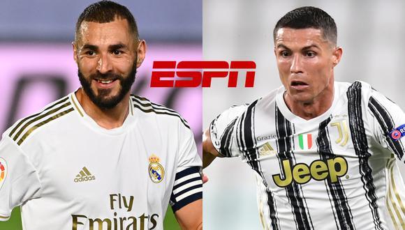 Hoy el fútbol se jugará al rojo vivo en todo el mundo. En España, Real Madrid debuta en LaLiga, mientras que Cristiano Ronaldo con Juventus hará lo propio en la Serie A. No te pierdas estos y otros partidos de hoy 20 de setiembre por las distintas señales de TV.   Foto: Composición