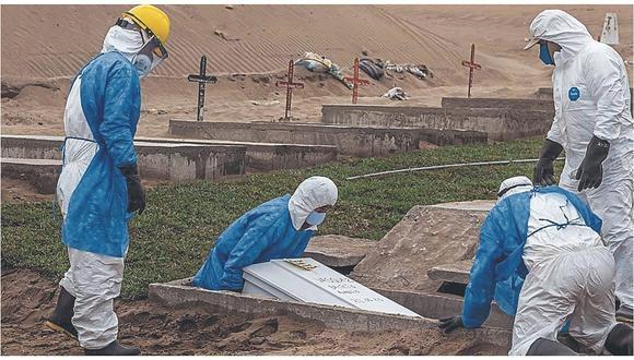 Minsa informó este domingo sobre un incremento en la cifra de muertos por COVID-19. (GEC)