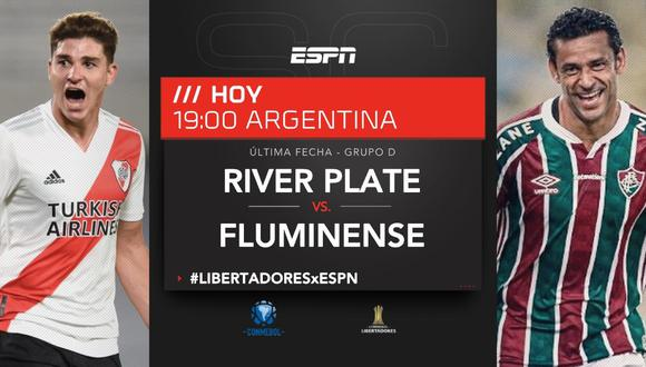 Ver, ESPN en vivo por Internet: River vs. Fluminense por Libertadores    River Plate vs. Fluminense EN VIVO ONLINE vía ESPN 2 por fecha 6 del Grupo  D de Copa Libertadores 2021  