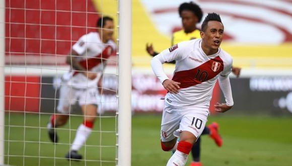 La dedicatoria de Christian Cueva por su gol anotado con la selección peruana. (Foto: FPF)
