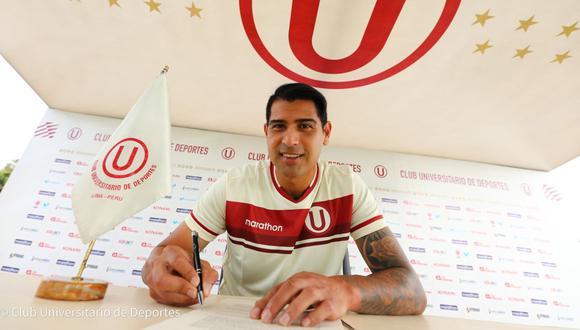 Enzo Gutiérrez fue presentado como nuevo jugador de Universitario. (Foto: Prensa U)