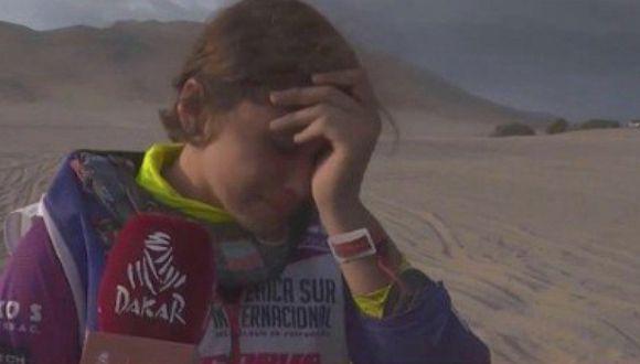 Dakar 2019: Gianna Velarde quedó fuera y rompió en llanto | VIDEO