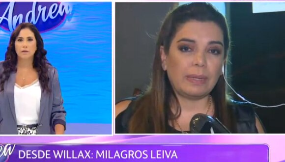 Milagros Leiva dio su descargo en programa de Andrea Llosa. (Foto: Captura ATV)