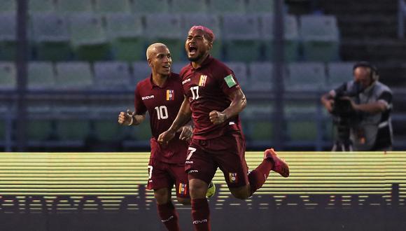 Yangel Herrera, Yeferson Soteldo, Luis Adrián Martínez y Ronald Hernández se incorporan al grupo que viene de disputar las Eliminatorias. (Foto: AFP)