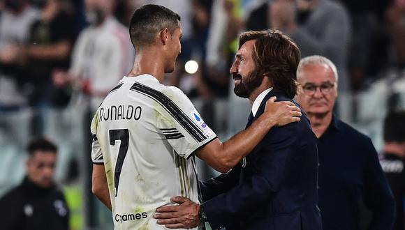 Cristiano Ronaldo marcó el 3 a 0 y fue la cereza del pastel en la primera victoria del equipo de Andrea Pirlo en Serie A | Foto: AFP