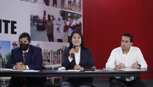 Fuerza Popular presentó acción de nulidad en 802 mesas que representan 200 mil votos y observaron 1200 actas que equivale a 300 mil votos. (César Bueno/ GEC)