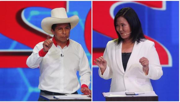 Pedro Castillo y Keiko Fujimori disputarían la segunda vuelta de las Elecciones 2021, según el conteo rápido de Ipsos Perú al 100%. (Foto: GEC)