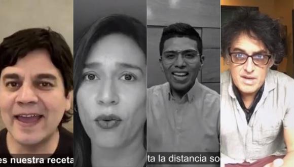 Anna Carina, Christian Yaipen, Verónica Linares y otras figuras se unen campaña solidaria frente a la crisis por la COVID-19 (Foto: Captura video)