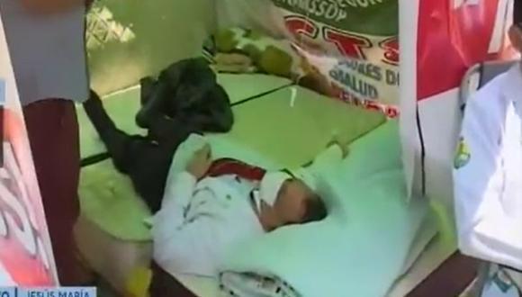 Médicos regionales iniciaron huelga de hambre. (Foto: Captura Canal N)