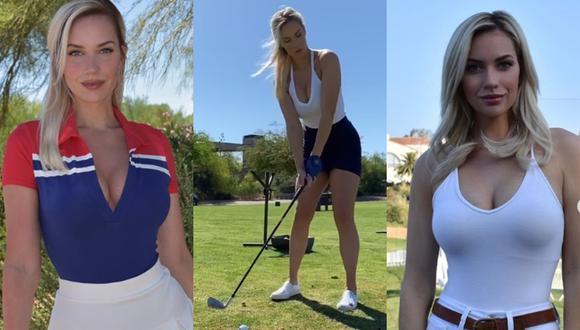 Paige Spiranac, la golfista que confesó no usar ropa interior cada vez que juega. (FOTO: Difusión)