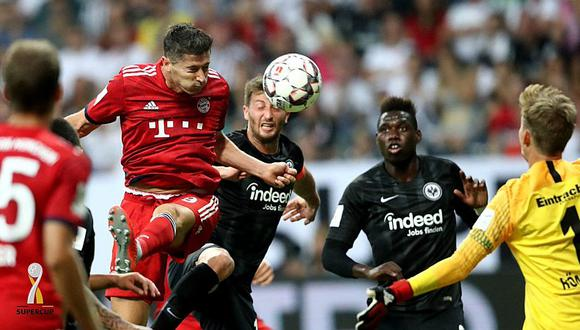 Lewandowski y el doblete en la final de la Supercopa de Alemania [VIDEOS]