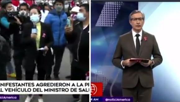 Federico Salazar sentenció los hechos de violencia que se vivieron el pasado miércoles en Centro de Lima. (Foto: Captura América TV)