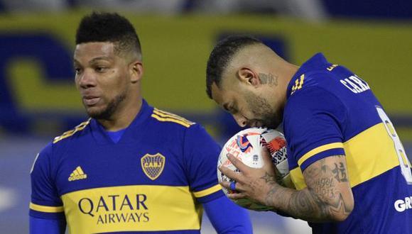 Boca Juniors vs. Lanús: chocan en La Bombonera por la Liga Profesional. (Foto: AFP)
