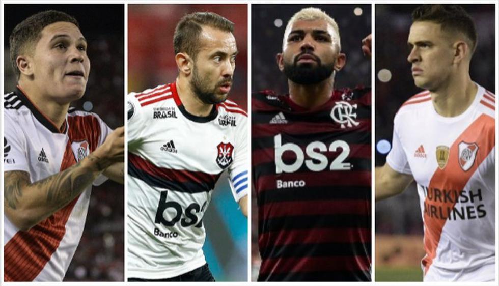 River Plate vs. Flamengo: los 20 jugadores más caros de los finalistas de la Copa Libertadores 2019, (Foto: AFP)