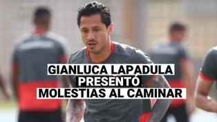 Gianluca Lapadula, fue visto con molestias al caminar después del encuentro con Colombia