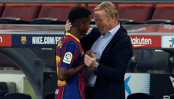 nsu Fati recibió el dorsal '10′ tras la salida de Lionel Messi al PSG. (Foto: EFE)
