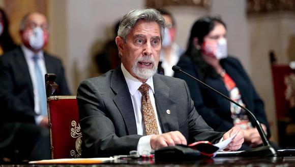 Francisco Sagasti cuenta con 34% de aprobación en enero, según Ipsos.  (Foto: Presidencia)