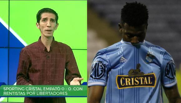 El periodista de GOLPERU, Giancarlo Granda, se refirió a la falta de gol del futbolista de Sporting Cristal en la Copa Libertadores.
