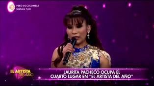 Laurita Pacheco queda en el cuarto lugar de 'El artista del año'