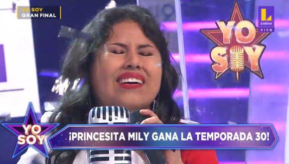 "La imitadora de la 'Princesita Mily' ganó la temporada 30 de ""Yo Soy"". (Foto: Captura Latina)."