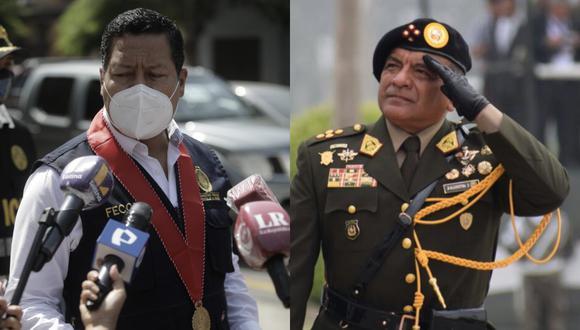 Fiscal Omar Tello asegura que allanamiento a vivienda del jefe del Comando Conjunto de las FF.AA. fue regular. (Foto: Anthony Niño de Guzmán / @photo.gec/EP)