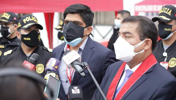 El ministro del Interior habló sobre la implementación de rondas campesinas en el sistema de seguridad ciudadana. Foto: Britanie Arroyo/@photo.gec